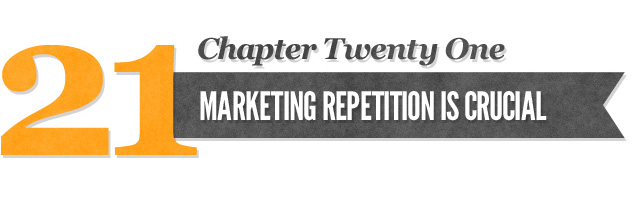 Marketing Repetition is Crucial