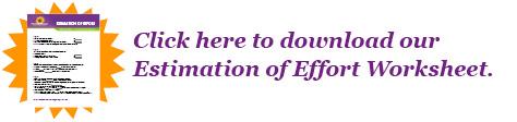 Download the Estimation of Effort Worksheet PDF