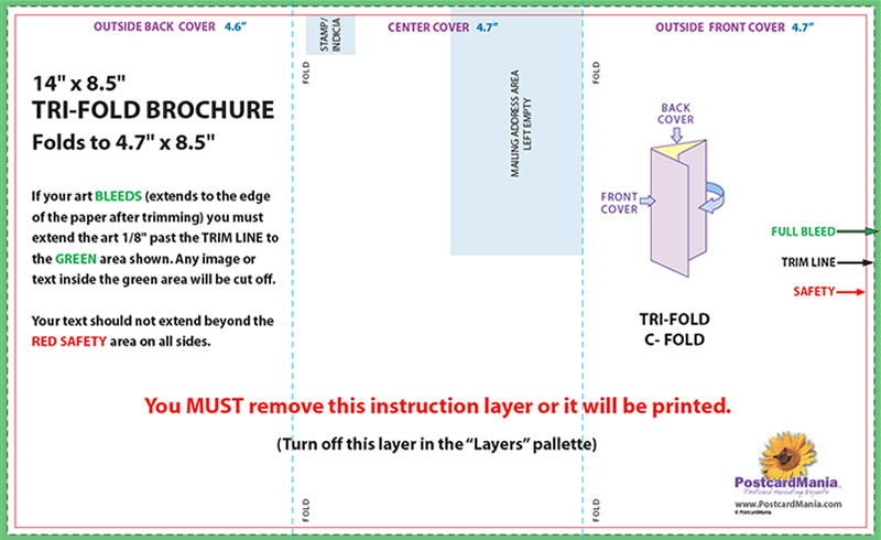 trifold mailer