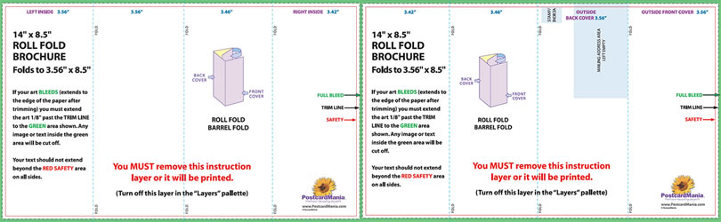 panel brochure fold template barrel fold brochure template