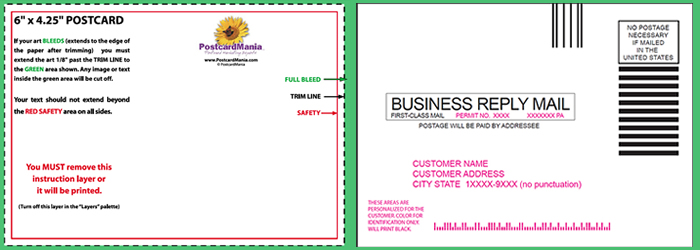 Download postcard design and mailing templates postcardmania front back preview download pronofoot35fo Gallery