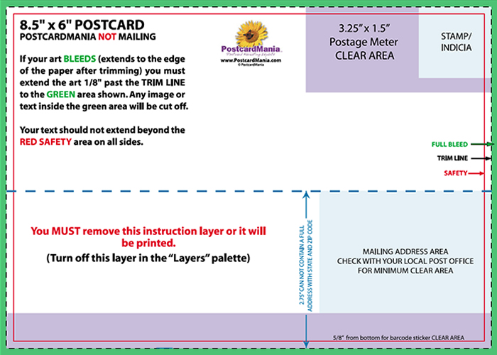 jumbo postcard template - postcard design and mailing free templates 4 6 5 7 6