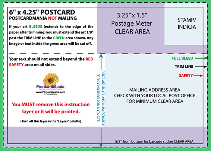 6x4 postcard template - postcard design and mailing free templates 4 6 5 7 6