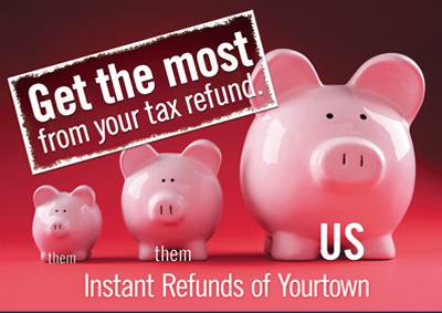 tax marketing postcards