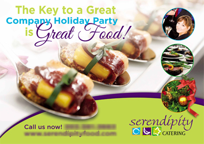 Catering Postcards For Serendipity Catering — Denver, CO 80216
