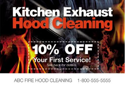 Exhaust cleaning services postcards