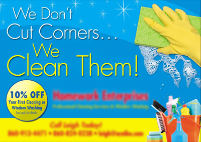Cleaning Services Postcards For Homework Enterprises — East Canaan ...