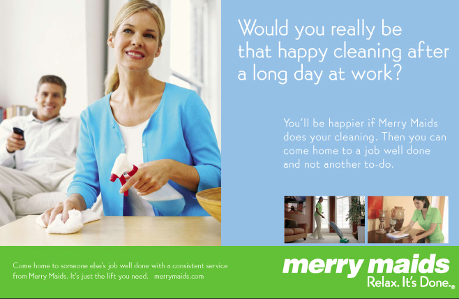 cleaning services postcards