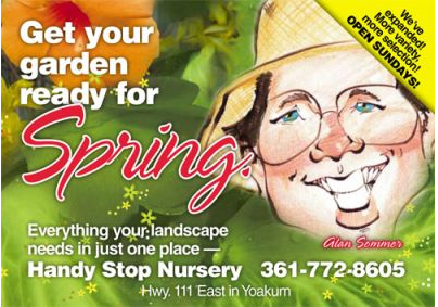 landscaping postcards