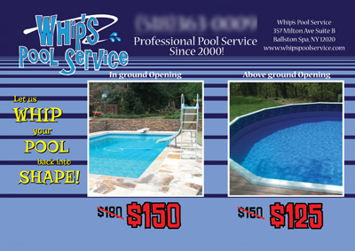 8 Brilliant Swimming Pool Service Direct Mail Postcard ...  Pool Service Advertising