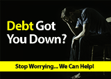 debt relief bankruptcy postcard direct mail design