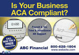 Financial ACA Compliance Postcard Design