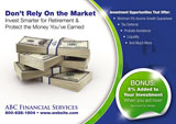 Financial Market Planning Postcard Design