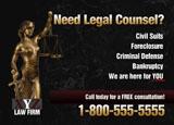 attorney postcard design
