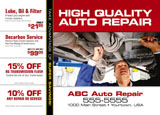 auto repair direct mail postcard