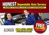 auto repair postcard