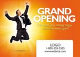 bank grand opening postcard