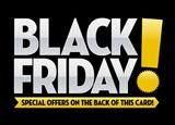 black friday retail postcard sample