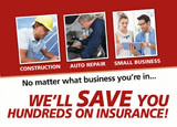 business insurance advertising postcard