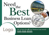 business loans postcard design