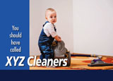 carpet and rug steam cleaning ad design