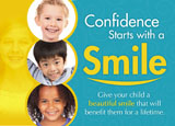 childrens orthodontist marketing postcard sample
