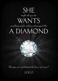 christmas diamond advertising post card example