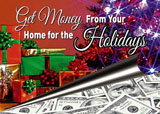 christmas mortgage marketing postcard sample