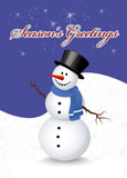 season's greetings direct mail postcard