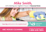 cleaning postcard design