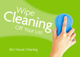 cleaning service marketing postcard sample