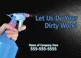 cleaning services direct mail postcard example