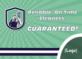 commercial cleaning service advertising mailer idea