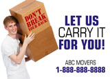 commercial moving marketing postcard sample