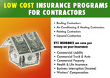 contractor insurance marketing postcard