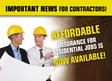 contractors insurance advertising idea
