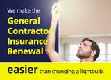 contractors insurance postcard example