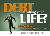 debt relief postcard marketing sample