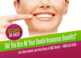 dental benefits postcard sample