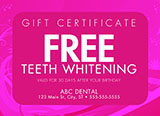 dental gift card mailer