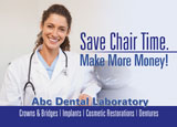 dental lab postcard example