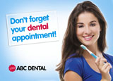 Dental Appointment Recall Postcards