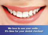 Dental Reminder Postcard Sample