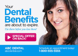 dentist insurance benefits postcard