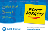 Dentist Marketing Mailer - Don't Forget!
