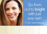 direct mail ad for teeth whitening services