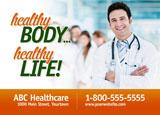 doctors office marketing postcard idea