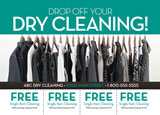 dry cleaning franchise marketing promotional mailer
