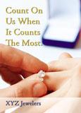 engagement ring marketing postcard