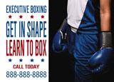 executive boxing marketing postcard